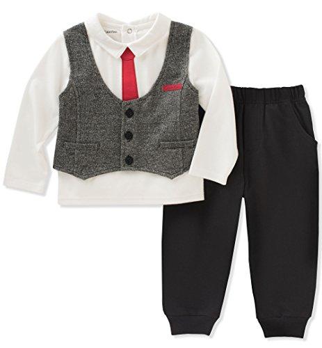2d9c5f9bd3ce Calvin Klein Baby Boys  2 Pc Pant Set with Vest