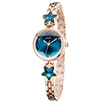 Addic Heritage & Charm Blue & Rose Gold Girls & Women's Watc