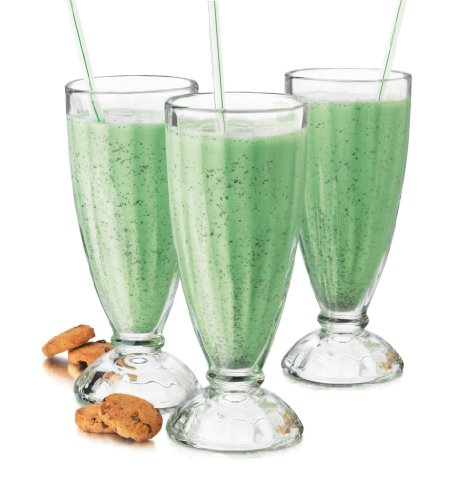 6-Piece Fountain Shoppe Classic Ice Cream Soda Glass