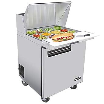 Amazon.com: 28 Inches Single Door Mega Top Sandwich Prep ...