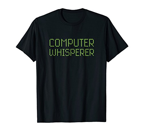 Nerds Tee T-shirts - Mens Computer Whisperer Funny IT Tech Support Nerd Geek Tee Shirt 2XL Black