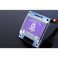 ACROBOTIC 0.96 Inches White I2C 128x64 OLED LCD Display Module for Arduino, ESP8266, MSP420, STM32, 8051, Raspberry Pi LED Screen