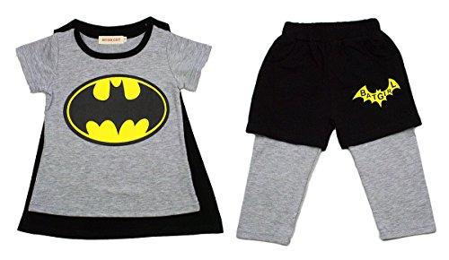 StylesILove Little Girls Batgirl Costume T-shirt and Shorts Set (3-4 Years)