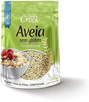 Aveia sem Glúten Flocos Médios Cereal Crock 200g