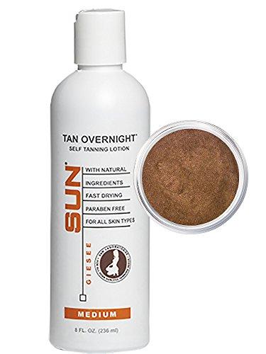 Autobronceador Instante en Loción Tan Overnight Self Tanner 8 oz + Mocha Magic Maquillaje Ideal en Polvo Bronceador 2 g...