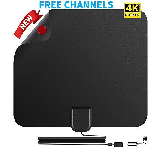 TV Antenna HD Digital TV Antenna 150 Miles Long Range Indoor Digital HDTV Antenna with Amplifier Signal Booster - Support 4K 1080P/HD VHF UHF (Tv Hd Antenna Indoor Long Range)
