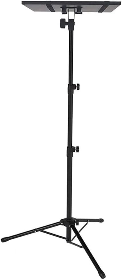 FRCOLOR Laptop Projector Tripod Stand Adjustable Tall 57 to 125cm Universal Laptop Floor Stand Foldable Computer DJ Equipment Holder Mount for Stage or Studio Black