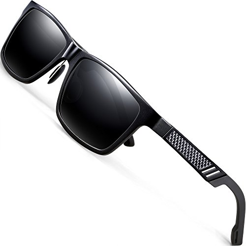 440cdbd67f7 ATTCL Men s Retro Metal Frame Driving Polarized Sunglasses For Men Women  16560black-gray
