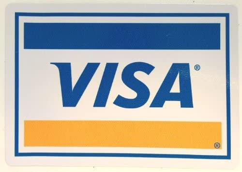 Pegatinas de la tarjeta VISA gran papel sellado-shop ...