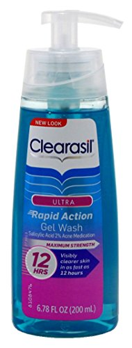 Clearasil Ultra Rapid Action Acne Treatment Face Wash Gel 6 78 Ounce Pack Of 6