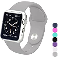 Apple Watch Band, Soft Silicone Sports Replacement Wristband for Apple Watch