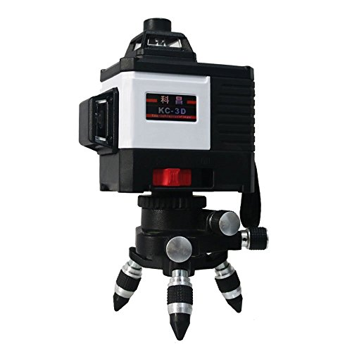 (XKYU Self-Leveling 2D/3D 8/12 Lines Green Laser Level 360 degree Horizontal Vertical Cross Lines Outdoor Pulse Mode Green 8Line)