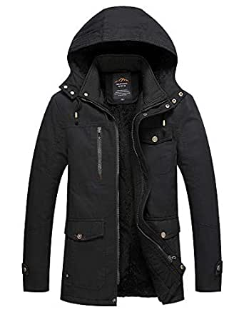 EKLENTSON Men's Winter Coats Fleece Lined Multi Pockets