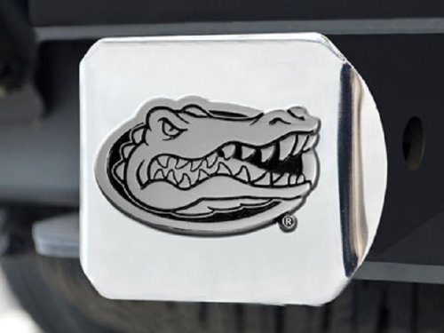Fanmats Florida Gators Heavy-Duty Chrome Metal Trailer Hitch Cover