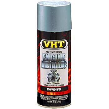 Vht Sp403 Engine Metallic Titanium Silver Blue Paint Can 11 Oz Automotive