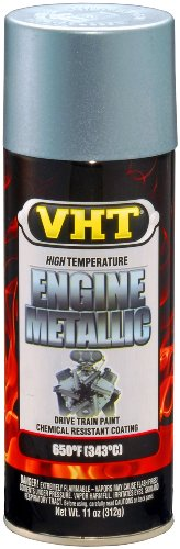 VHT SP403 Engine Metallic Titanium Silver Blue Paint Can - 11 oz. (Engine Paint Blue)