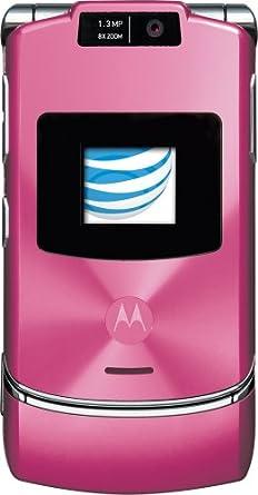 amazon com motorola razr v3xx j phone pink at t cell phones rh amazon com razr v3 manual pdf motorola v3 manual