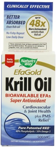 Way Huile de Krill 500mg de la nature, 60 gélules