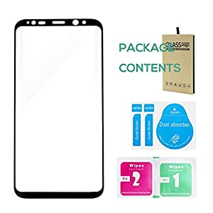 Screen Protector For Galaxy S7 S8 S8 Plus 3D Tempered Glass Cover HD Impact Resistant Full Screen Cover For Samsung Galaxy S7 S8 S8+ by Hovinso