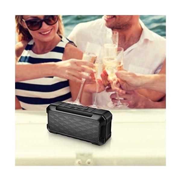 Enceinte Bluetooth Portable, 5W Haut-Parleur Bluetooth sans Fil avec autonomie de 10 Heures, Basses Puissantes, Mains Libres Téléphone, Carte TF Support, Microphone et Chargement USB 7