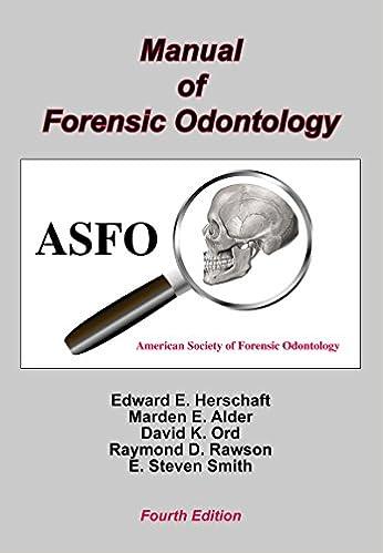 Manual Of Forensic Odontology Kindle Edition By Herschaft Edward E Politics Social Sciences Kindle Ebooks Amazon Com