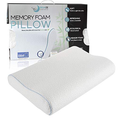 Dreamzie Ergonomic Memory Foam and Orthopaedic Pillow (60 x 40 cm) OEKO-TEX...