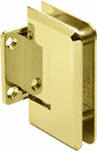 CRL P1N074BR Polished Brass Pinnacle 074 Series Wall Mount Short Back Plate - Short Backplate Brass
