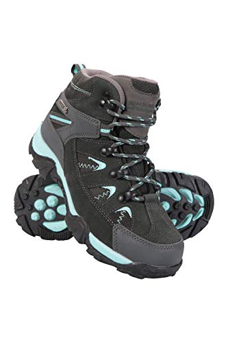 Mountain Warehouse Rapid Kids Waterproof Boots - for Girls & Boys Teal Kids Shoe Size 4 US (For Girls Boots Footwear)