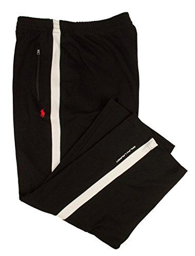 Polo Ralph Lauren Mens Big & Tall Contrast Trim Athletic Track Pants Black - Mens Lauren Outlet Ralph