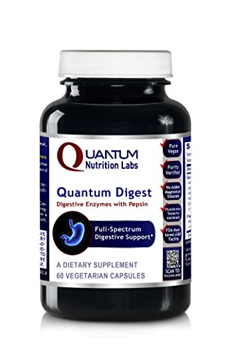 (Quantum Digest, 60 Veg caps - Vegetarian Source Enzymes for Full Spectrum Digestive Support for Fats, Carbohydrates, Proteins and Dairy)