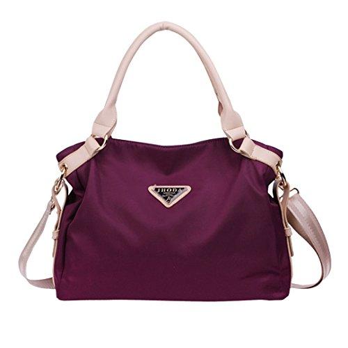 Good Bag 2015 New Fashion Women's Tote Bag Nylon Shopping Bag Lady's Shoulder Bags Handbag Color Purple