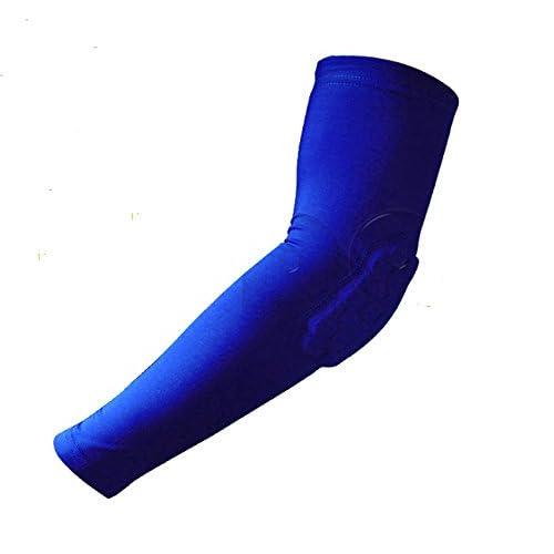Le bracelet du bras de basket-ball Basket-ball collision_coude du bras de conservation-haute-pop 1088 anti-dérapant, bleu -Code XL