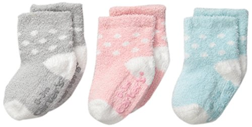 Dot Fuzzy Socks (Carter's Baby-Girls Newborn Dot Chenille Socks, Multi, 3-12/Medium Months (Pack of 3))