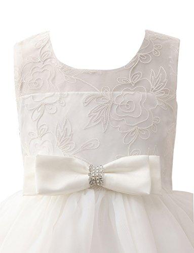 Erosebridal Rundhals Bowknot Blumenmädchenkleider Hochzeit Spitze für r008axqzP