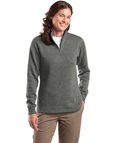 sport-tek-lst253-ladies-1-4-zip-sweatshirtx-smallvintage-hthr