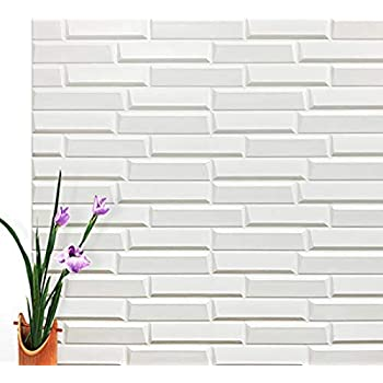 Art3d Peel and Stick 3D Wall Panels for Interior Wall Decor, White, 27.5