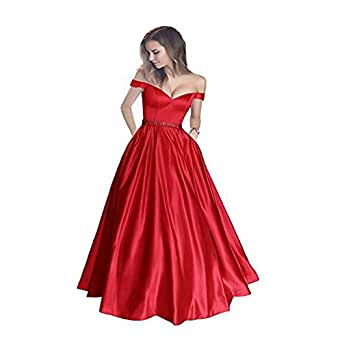 V-Neck Satin with Pocket Evening Formal Party Ball Gown Prom Bridesmaid Dresses Custom Size 2 4 6 8 10 12 14 16 18 20 22 24 26