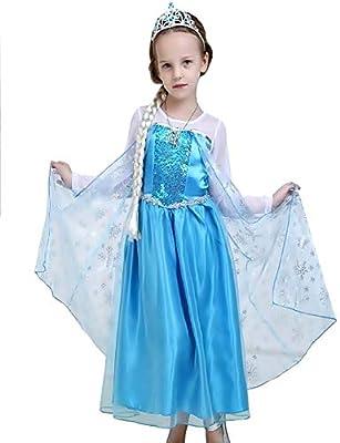 Disfraz de Elsa frozen - niña - clásico - halloween - carnaval ...