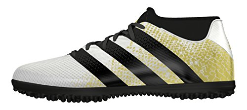 adidas Ace 16.3 Primemesh, Scarpe da Calcio Uomo, Bianco (Ftwr White/Gold Met./Core Black), 42 2/3 EU