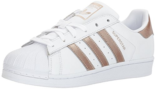 adidas Originals Women's Superstar Shoes Running Cyber Metallic/White, 8 M US