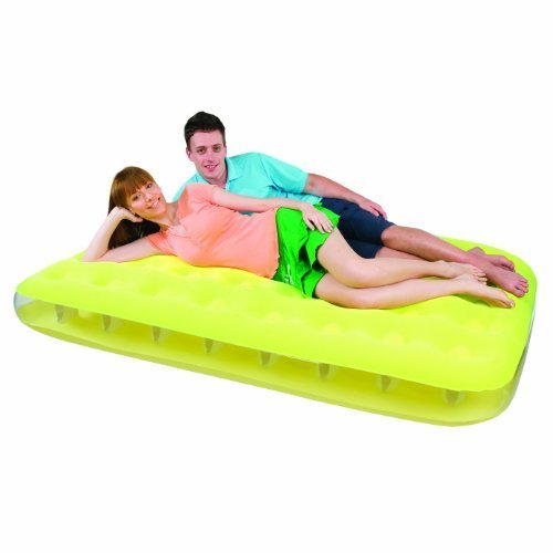 Double fashion flocked airbed- yellow by iOSSS
