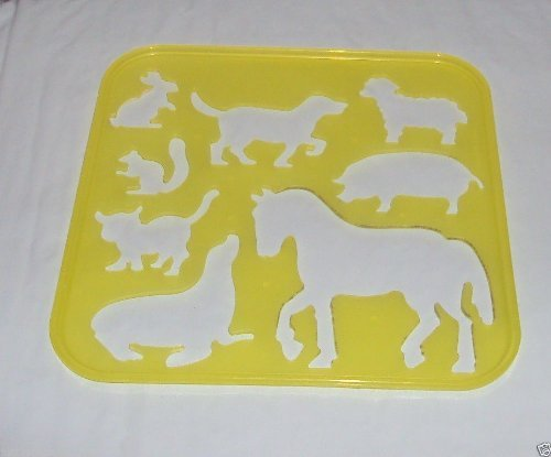Tupperware Stencil Art Replacement Animals Theme Yellow #1944