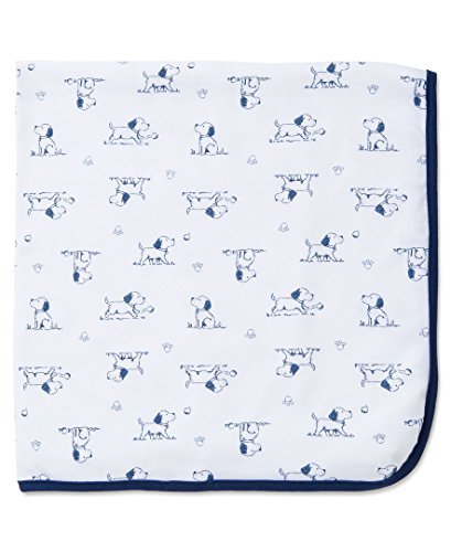 Little Me Baby Boys'  Puppy Toile Blanket, White Print, One Size