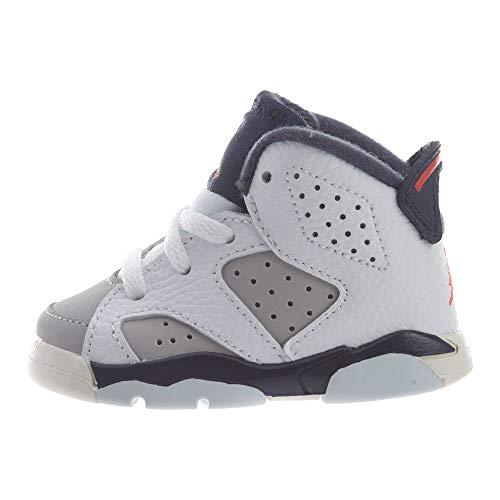 Toddler Jordan 6 Retro Tinker White/Infrared 23-Neutral Grey (5 M US - Toddler Jordan 5 Size Shoes