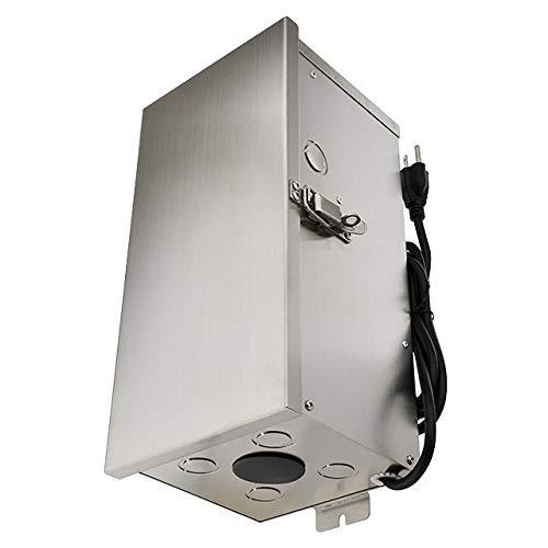MarLG 300-Watt Low Voltage Multi-Tap (12V/13V/14V/15V) Stainless Steel Landscape Lighting Transformer, ETL-Listed, 3289-12V by MarsLG (Image #3)