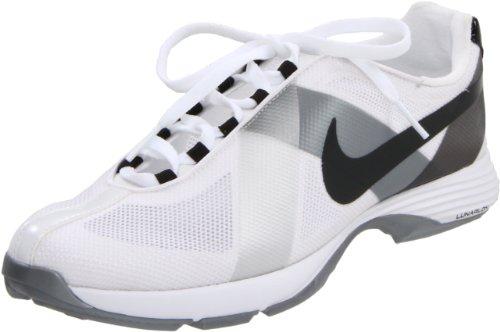 Nike Golf Women's Lunar Summer Lite Golf Shoe,White/Black Metallic Silver,8 M US