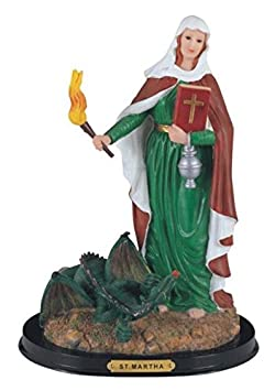 StealStreet Saint Martha Holy Figurine Religious Statue Decor, 12