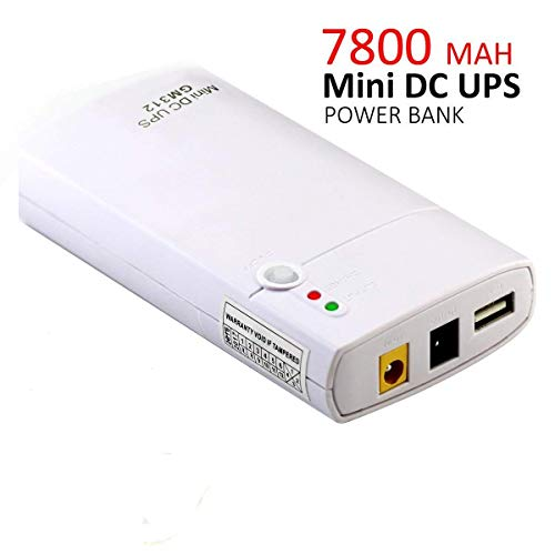Mini UPS Uninterruptible Power Supply 7800MAH Power Bank 11-13V Input Voltage 12V 2A DC 5V 1A USB Output Portable Power Supply System 12V 2A Wireless Router, Modem,Phone Other Network Periphe