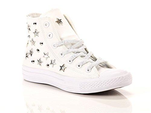 Converse All LTD Silver 38 White Star Bianco Tela Donna High Sneakers Alte Chuck Canvas Taylor Lux EU Multistuds qpwpt0rA