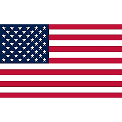 StickerTalk USA Flag Vinyl Sticker, 5 inches by 3 inches: Automotive